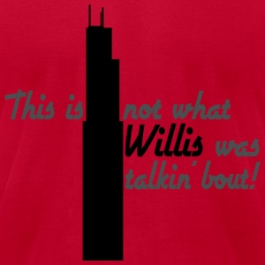 Funny Willis Tower Name Change - Men's T-Shirt by American Apparel
