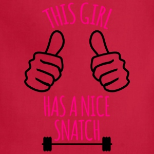 This Girl Has Nice Snatch Funny Workout  Women's T-Shirts - Adjustable Apron