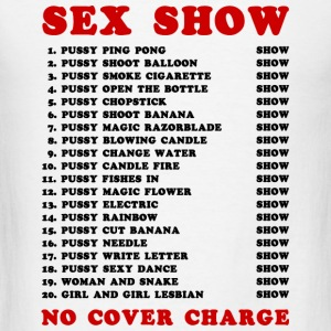 Bangkok Red Light Ping Pong Sex Show - Men's T-Shirt