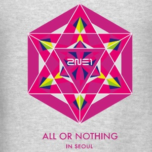 2NE1 Seoul All or Nothing  Long Sleeve Shirts - Men's T-Shirt