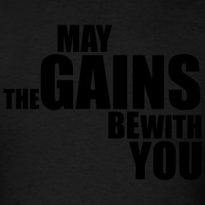 Premium Tank Top May The Gains Be With You - Men's T-Shirt