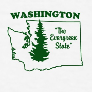 Washington, the Evergreen State Coffee Mug - Men's T-Shirt