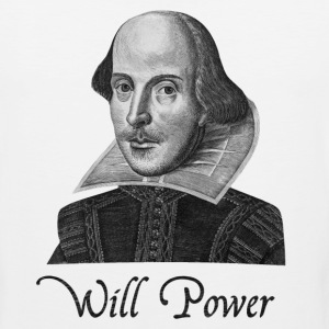 William Shakespeare Will Power - Men's Premium Tank
