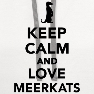 Keep calm and love Meerkats Women's T-Shirts - Contrast Hoodie