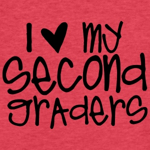 I Love My Second Graders Tanks - Fitted Cotton/Poly T-Shirt by Next Level