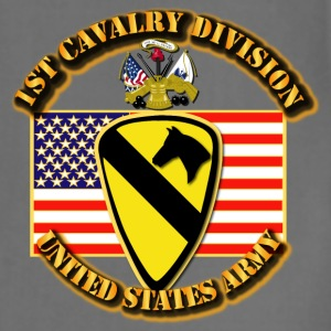 1st Cavalry Division w Flag - Adjustable Apron