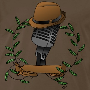 old microphone tatto in clor style - Men's Premium T-Shirt