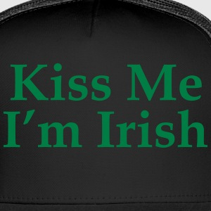 Kiss Me I'm irish Zip Hoodies & Jackets - Trucker Cap