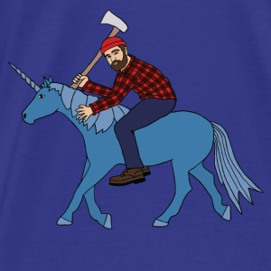 paul bunyan riding babe unicorn Bags & backpacks - Men's Premium T-Shirt
