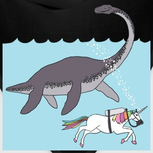 unicorn swimming with loch ness monster Bags & backpacks - Bandana