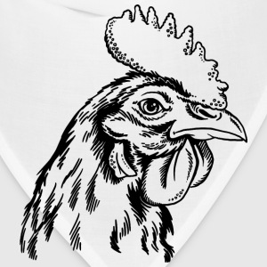 sketches of animals rooster - Bandana