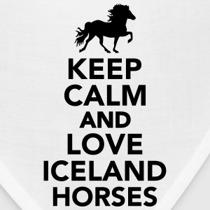Keep calm and love Iceland horses Accessories - Bandana