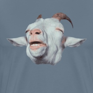Happy Goat is Faded T-Shirts - Men's Premium T-Shirt