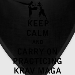 Keep Calm and Carry On Practicing Krav Maga - Bandana
