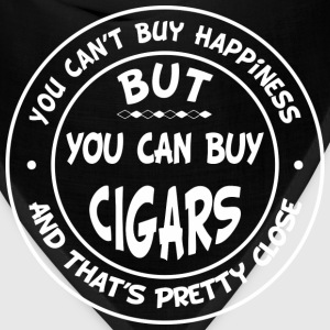 You Can't Buy Happiness, But You Can Buy Cigars! T-Shirts - Bandana