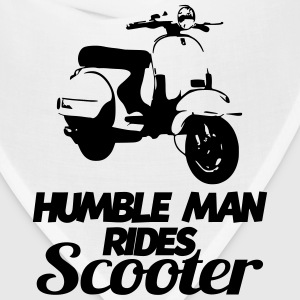 humble man rides scooter T-Shirts - Bandana