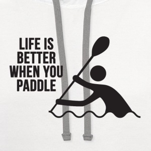 Live Love Paddle | Kayak T-Shirts - Contrast Hoodie