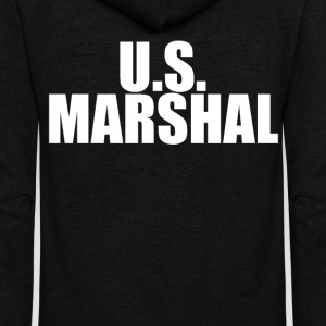 US Marshal (2) - Unisex Fleece Zip Hoodie by American Apparel