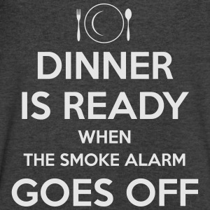 DINER IS READY WHEN SMOKE ALARM GOES OFF WIDENECK - Men's V-Neck T-Shirt by Canvas