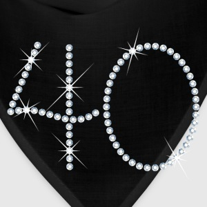 Faux Rhinestone 40th Birthday Women's T-Shirts - Bandana