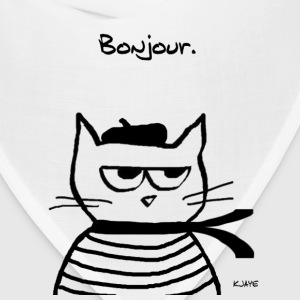 Angry Cat is Terribly French - Bandana