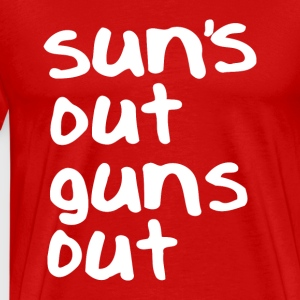Suns out Guns out (2) - Men's Premium T-Shirt