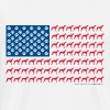Patriotic Greyhound - Men's Premium T-Shirt