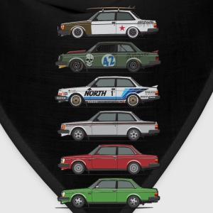 Stack of Volvo 240 Series 242 Brick Coupes Kids' Shirts - Bandana