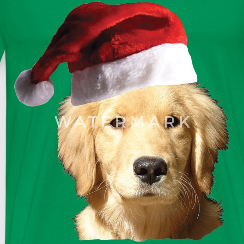 Christmas Golden Retriever - Men's Premium T-Shirt