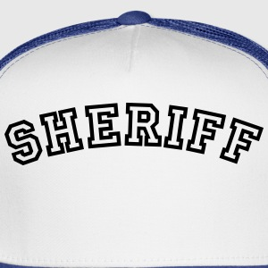 sheriff curved college style logo t-shirt - Trucker Cap