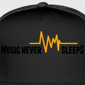 Music never sleeps T-Shirts - Trucker Cap