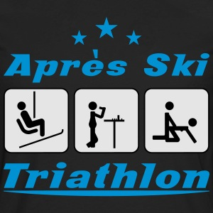 Apres Ski Triathlon c3 T-Shirts - Men's Premium Long Sleeve T-Shirt