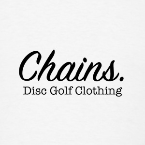 Chains Disc Golf Clothing Buttons - Men's T-Shirt