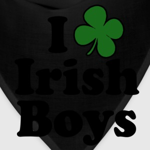 I Love Shamrock Irish Boys St Patricks Day Tshirt - Bandana