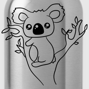 sweet little cute koala climbs tree eucalyptus tre T-Shirts - Water Bottle