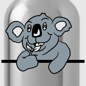 big fat hungry funny koala bear eating eucalyptus  T-Shirts - Water Bottle