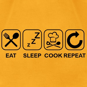 Eat Sleep Cook Repeat Bags & backpacks - Men's T-Shirt by American Apparel