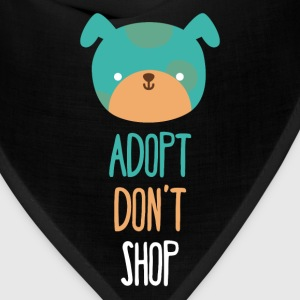 Adopt don't shop dog Animal Rescue T Shirt T-Shirts - Bandana