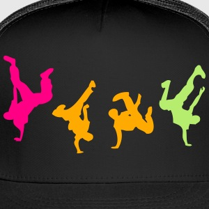 break dance hip hop dancer 1300 Kids' Shirts - Trucker Cap