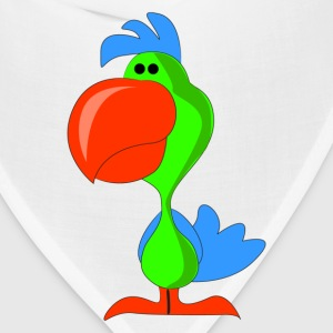 Green chick with red beak cartoon T-Shirts - Bandana