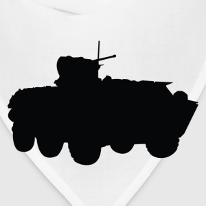 missile truck Military silhouette T-Shirts - Bandana