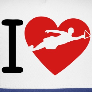love waterskiing heart Long Sleeve Shirts - Trucker Cap