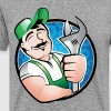 Maintenance man with wrench T-Shirts - Men's Premium T-Shirt