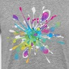 Color paint splashes background T-Shirts - Men's Premium T-Shirt