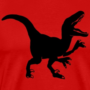 Custom Raptor Dinosaur Graphic Sportswear - Men's Premium T-Shirt