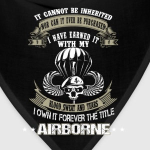 Airborne-I've earned it with my blood and tears - Bandana