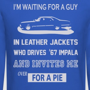 I'm waiting for a guy in leather jackets - Crewneck Sweatshirt