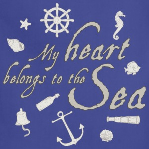 my_heart_belongs_to_the_sea_06201601 T-Shirts - Adjustable Apron