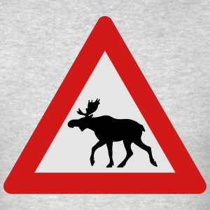 Norwegian Moose Elk Crossing Traffic Sign Sportswear - Men's T-Shirt