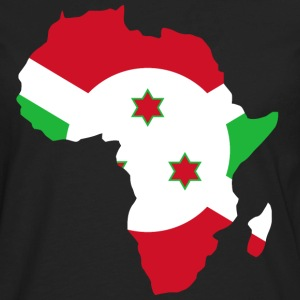 Burundi Flag In Africa Map - Men's Premium Long Sleeve T-Shirt